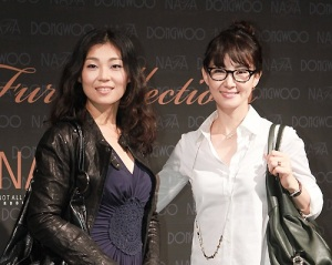 Actresses Chae Si Ra and Chae Guk Hee